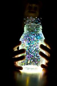 lights in a jar